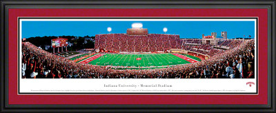 Indiana Hoosiers Panoramic Photo Deluxe Matted Frame - 50 Yard Line | Blakeway | INU1D
