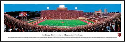 Indiana Hoosiers Standard Frame Panoramic Photo - 50 Yard Line | Blakeway | INU1F