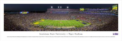 LSU Tigers Panoramic Photo Print - 50 Yard Line | Blakeway | LSU4