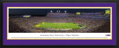 LSU Tigers Panoramic Photo Deluxe Matted Frame - 50 Yard Line | Blakeway | LSU4D