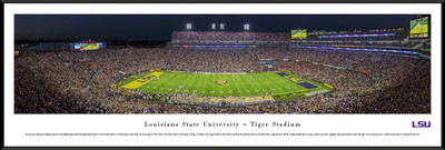 LSU Tigers Standard Frame Panoramic Photo - 50 Yard Line | Blakeway | LSU4F