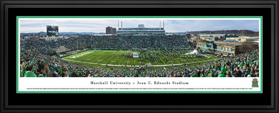 Marshall Thundering Herd Panoramic Photo Deluxe Matted Frame - 50 Yard Line | Blakeway | MARU1D