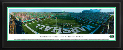 Marshall Thundering Herd Panoramic Photo Deluxe Matted Frame - End Zone | Blakeway | MARU2D