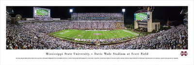 Mississippi St. Bulldogs Panoramic Photo Print - 50 Yard Line | Blakeway | MSSU2