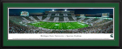 Michigan State Spartans Panoramic Photo Deluxe Matted Frame - 50 Yard Line | Blakeway | MSU6D