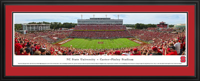 NC State Wolfpack Panoramic Photo Deluxe Matted Frame - 50 Yard Line | Blakeway | NCSU3D
