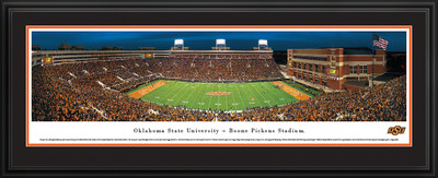 Oklahoma State Cowboys Panoramic Photo Deluxe Matted Frame - 50 Yard Line | Blakeway | OKSU4D