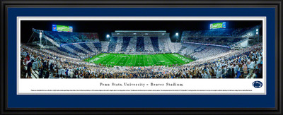 Penn State Nittany Lions Panoramic Photo Deluxe Matted Frame - 50 Yard Line | Blakeway | PSU5D
