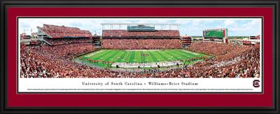 South Carolina Gamecocks Panoramic Photo Deluxe Matted Frame - 50 Yard Line | Blakeway | SCAR4D