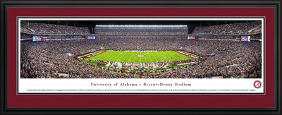 Alabama Crimson Tide Panoramic Photo Deluxe Matted Frame - 50 Yard Line | Blakeway | UAL4D
