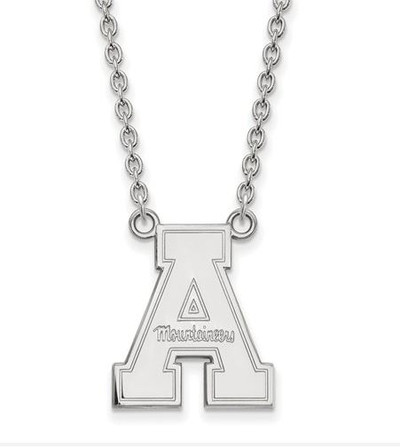 Appalachian State Mountaineers Sterling Silver Pendant Necklace | Logo Art | SS012APS-18