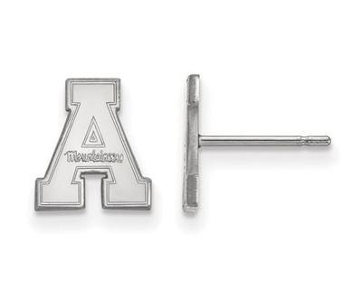 Appalachian State Mountaineers Sterling Silver Post Earrings | Logo Art | SS007APS