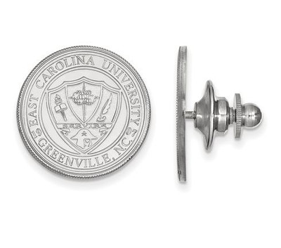 East Carolina Pirates Crest Sterling Silver Lapel Pin | Logo Art | SS055ECU