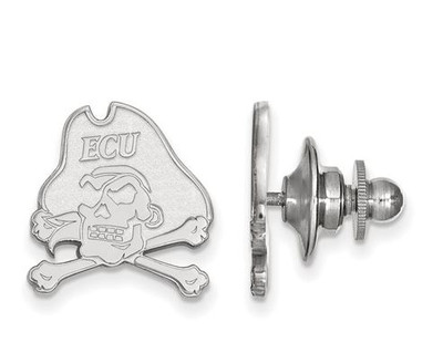 East Carolina Pirates Sterling Silver Lapel Pin | Logo Art | SS062ECU