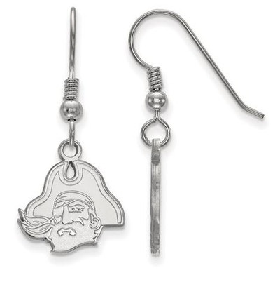 East Carolina Pirates Sterling Silver Dangle Earrings | Logo Art | SS045ECU