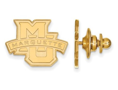 Marquette Golden Eagles Sterling Silver Gold Plated Crest Lapel Pin | Logo Art | GP028MAR