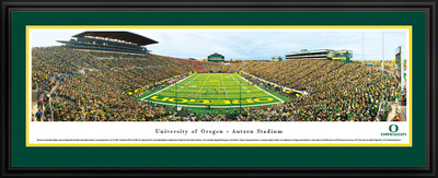 Oregon Ducks Panoramic Photo Deluxe Matted Frame - End Zone | Blakeway | UOR4D