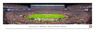 Alabama Crimson Tide Panoramic Photo Print - 50 Yard Line | Blakeway | UAL4