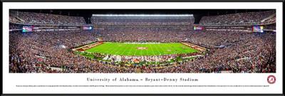 Alabama Crimson Tide Standard Frame Panoramic Photo - 50 Yard Line | Blakeway | UAL4F