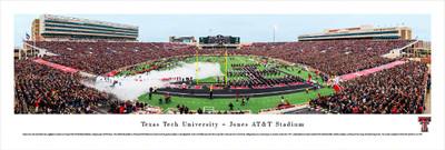 Texas Tech Red Raiders Panoramic Photo Print - 50 Yard Line | Blakeway | TXT2