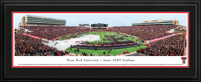Texas Tech Red Raiders Panoramic Photo Deluxe Matted Frame - 50 Yard Line | Blakeway | TXT2D