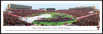 Texas Tech Red Raiders Standard Frame Panoramic Photo - 50 Yard Line   Blakeway   TXT2F