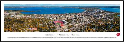 Wisconsin Badgers Standard Frame Panoramic Photo - Aerial View | Blakeway | UWI6F