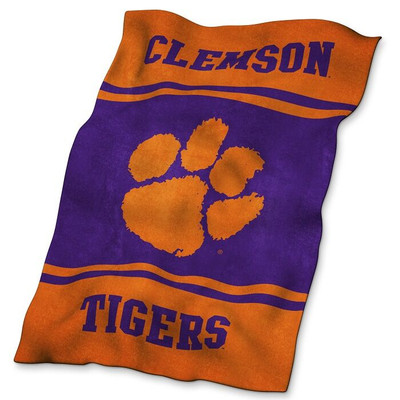 Clemson Tigers Ultrasoft Blanket | Logo Chair | 123-27