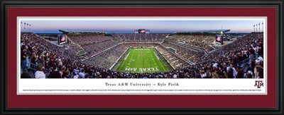 Texas A&M Aggies Panoramic Photo Deluxe Matted Frame - End Zone | Blakeway | TXAM4D