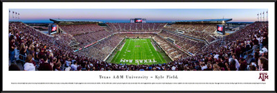 Texas A&M Aggies Standard Frame Panoramic Photo - End Zone | Blakeway | TXAM4F