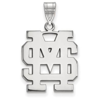 Mississippi State University Sterling Silver Large Pendant | Logo Art | SS064MSS