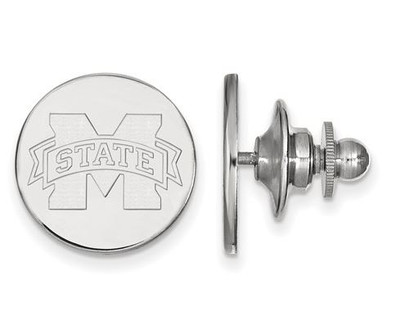 Mississippi State University Sterling Silver Lapel Pin | Logo Art | SS011MSS