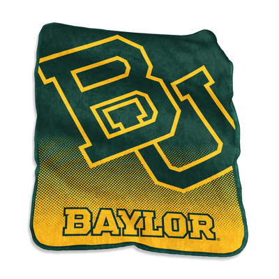 Baylor Bears Logo  Raschel Throw Blanket | Logo Chair | 111-26A
