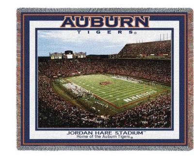 Auburn Tigers Jordan Hare Stadium Stadium Blanket   Pure Country   5622-T