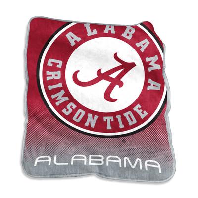 Alabama Crimson Tide Logo  Raschel Throw Blanket | Logo Chair | 102-26A