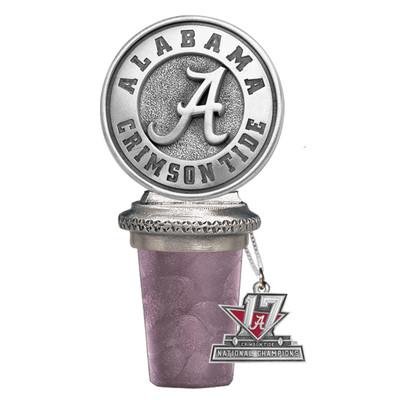 2017 National Champions Alabama Crimson Tide Bottle Stopper   Heritage Pewter   BS10308