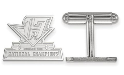 2017 National Champions Alabama Crimson Tide Sterling Silver Cufflinks | Logo Art | SS007CFA17