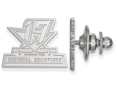 2017 National Champions Alabama Crimson Tide Sterling Silver Lapel Pin | Logo Art | SS006CFA17