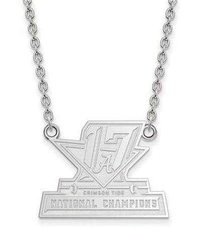 2017 National Champions Alabama Crimson Tide Sterling Silver LG Pendant Necklace | Logo Art | SS009CFA17-18
