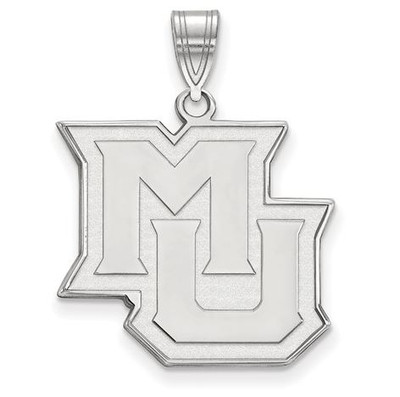Marquette University 14k White Gold Large Pendant | Logo Art | 4W014MAR