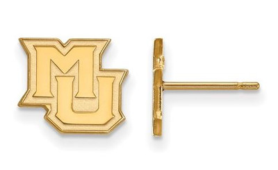 Marquette University 10k Yellow Gold Extra Small Post Earrings | Logo Art | 1Y018MAR