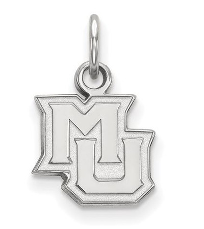 Marquette University 14k White Gold Extra Small Pendant | Logo Art | 4W014MAR