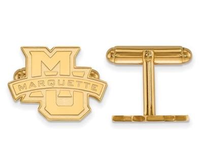 Marquette University Sterling Silver Gold Plated Cufflinks   Logo Art   GP029MAR