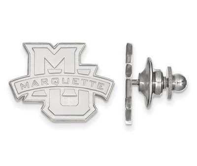 Marquette University 14k White Gold Lapel Pin | Logo Art | 4W028MAR