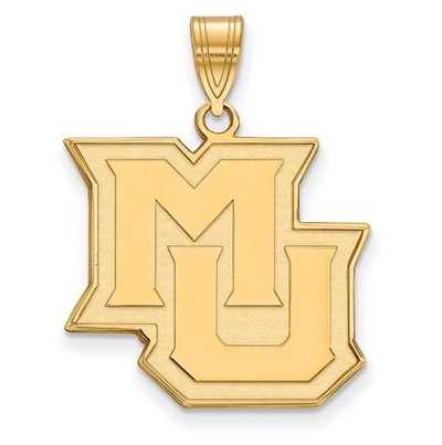 Marquette University 10k Yellow Gold Large Pendant | Logo Art | 1Y024MAR