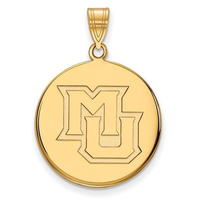 Marquette University 14k Yellow Gold Large Disc Pendant | Logo Art | 4Y024MAR
