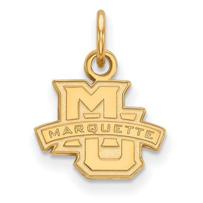 Marquette University 10k Yellow Gold Extra Small Pendant | Logo Art | 1Y001MAR