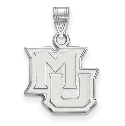 Marquette University 14k White Gold Small Pendant | Logo Art | 4W015MAR