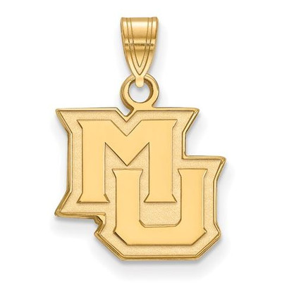 Marquette University 14k Yellow Gold Small Pendant | Logo Art | 4Y015MAR