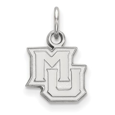 Marquette University 10k White Gold Extra Small Pendant | Logo Art | 1W014MAR